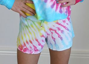 Flowers By Zoe Tie Dye Shorts (2T,4,5,6X,XL 12/14)