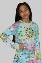 Flowers By Zoe Tie Dye Sweatshirt with Print (Size 4)