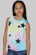 Flowers By Zoe Tie Dye Tank in Pastel (2T,4T,4)