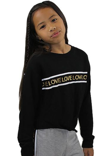 Flowers by Zoe Tie Front Sweatshirt Gold Love