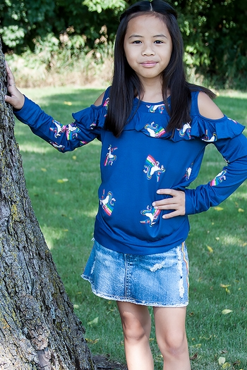 For The Love of Unicorns Top (LG 10/12 & XL 12/14)