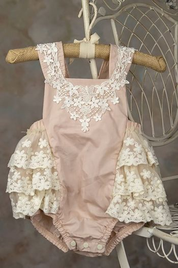 Frilly Frock Eleanor Infant and Toddler Sunsuit (0-3Mos & 24Mos)