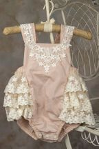 Frilly Frock Eleanor Infant and Toddler Sunsuit (Size  24Mos)