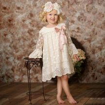 Frilly Frocks Evelyn Dress Vintage Inspired (Size 3T)