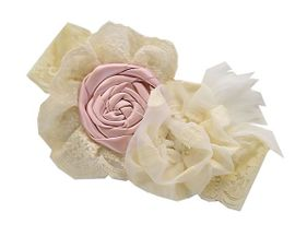 Frilly Frocks Evelyn Headband Ivory (Size Toddler)