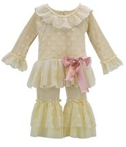 Frilly Frocks Evelyn Tutu Set Ivory (Size 4T)