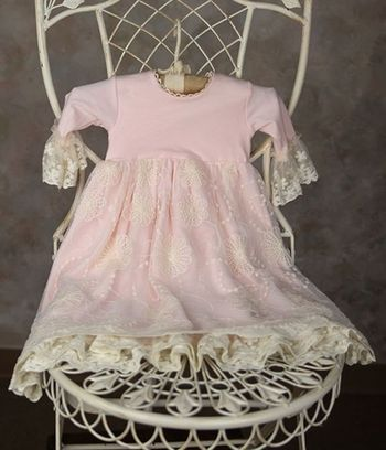 Frilly Frocks Julianna Rose Gown for Newborns