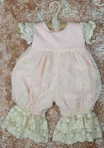 Frilly Frocks Julianna Rose Romper for Girls (3-6Mos,12Mos,18Mos,24Mos)