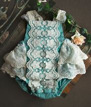 Frilly Frocks Nora Lace Romper Sunsuit (3T & 4T)