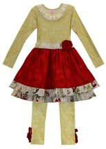 Gifts From Heaven Party Dress with Legging (3Mos,6Mos,9Mos,2T,3T)