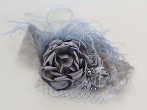Girls Couture Headband in Gray
