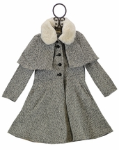 Girls Fancy Tweed Coat (5 & 6)