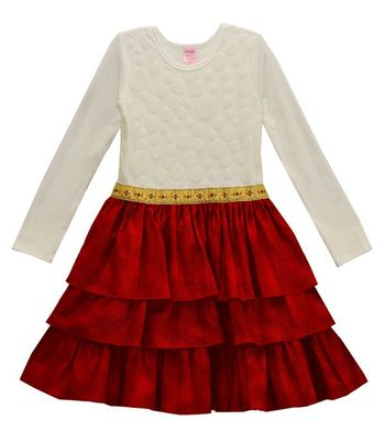 Girls Holiday Dress in Red (4,5,6X)