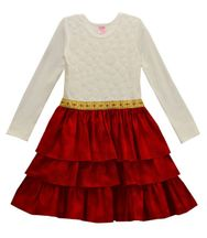 Girls Holiday Dress in Red