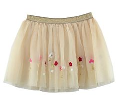 Mayoral Golden Blooms Tulle Skirt (3 & 7)