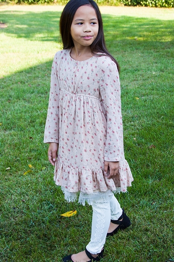 Grassy Prairie Girls Dress for Fall (5 & 6)