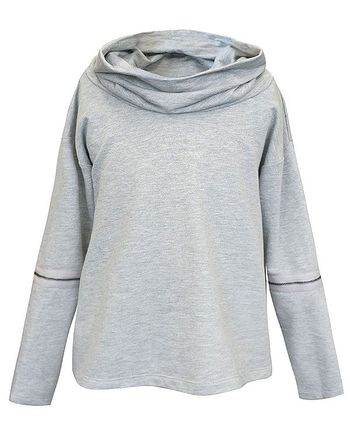 Gray Top With Extra Zip (Size 12)