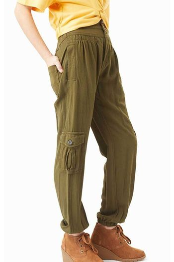 Habitual Cora Parachute Cargo Pant Olive SOLD OUT