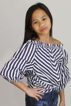Habitual Girl Jagger Ruched Sleeves Top