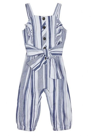 Habitual Girl Palmer Wrap Stripe Jumpsuit (Sizes 12Mos to 2T)