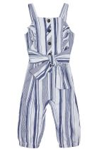 Habitual Girl Palmer Wrap Stripe Jumpsuit (Sizes 12Mos to 4T)