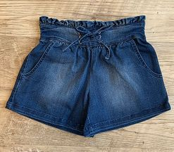 Habitual Girl Ruffle Waist Denim Shorts (Sizes 16)