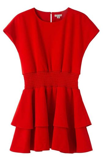 Habitual Red Dress in Crepe