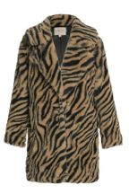 Hannah Banana Animal Print Teddy Coat (7,10,12)