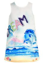 Hannah Banana Dolphin Dream Dress for Girls (4,5,6,6X,7,10)