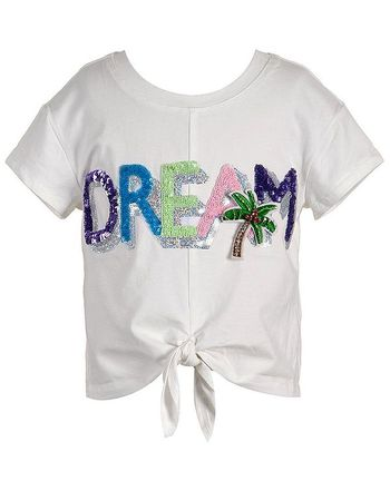 Hannah Banana Dream Tie Front Tee for Girls (Size 6X)