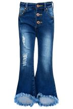 Hannah Banana Frayed Jeans Button Front