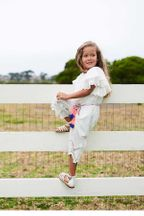 Hannah Banana Girls Jumpsuit in White Lace (2T & 5)