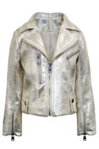 Hannah Banana Gold Metallic Moto Jacket (6X,10,12)