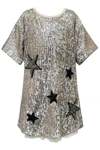 Hannah Banana Gold Sequin Dress Stars SOLD OUT