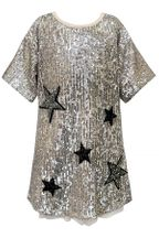 Hannah Banana Gold Sequin Dress Stars