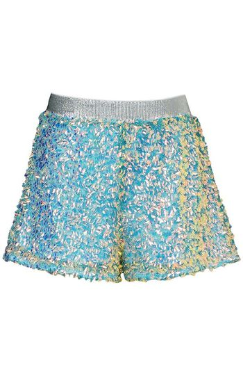 Hannah Banana Green Sequin Shorts Fashion - PREORDER
