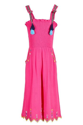 Hannah Banana Jumpsuit in Bright Pink (6X & 14)