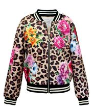 Hannah Banana Leopard Jacket with Rose Print