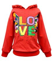 Hannah Banana Love Hoody with Ruffles (6X,7,8,14)