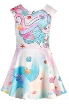 Hannah Banana Mermaid Dress in Skater Style (2T & 4)