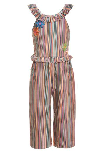 Hannah Banana Mod Jumpsuit with Flower Patch (3T,5,6,6X,7,10)