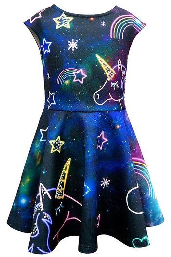 Hannah Banana Neon Unicorn Fantasy Dress (Size 10)
