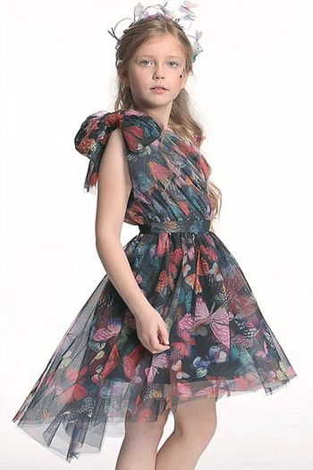 Hannah Banana One Shoulder High Low Party Dress (Size 7)