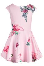 Hannah Banana Pink Floral Dress Skater Style (2T,3T,6X,7,10)