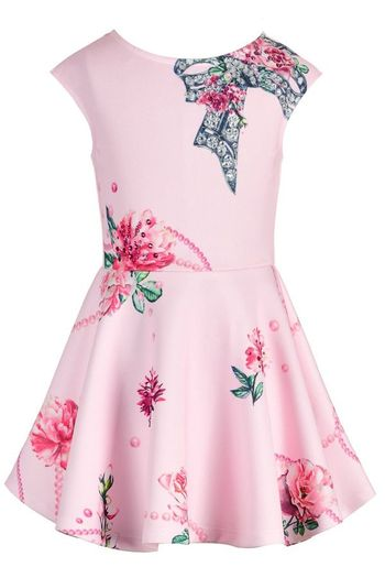Hannah Banana Pink Floral Dress Skater Style SOLD OUT