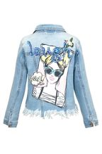 Hannah Banana Pop Art Jacket Denim (4T)