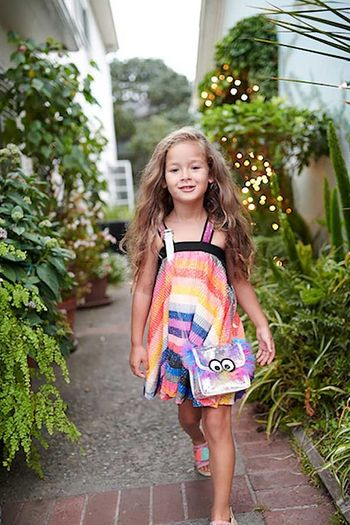 Hannah Banana Rainbow Stripe Summer Dress