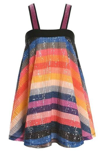 Hannah Banana Rainbow Stripe Summer Dress (Size 5)
