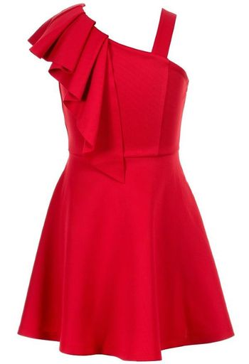 Hannah Banana Red Dress One Shoulder (Size 12)