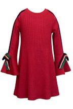 Hannah Banana Red Flare Sleeve Dress (Size 5)